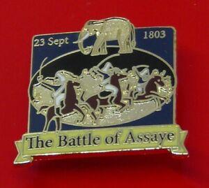 Danbury-Mint-British-Victory-Enamel-Pin-Badge-The-Battle-of-Assaye-Elephant