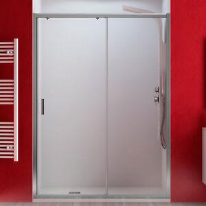 Nicchia scorrevole 100 cm porta doccia cristallo temperato trasparente 185 h new ebay - Porta in cristallo scorrevole ...