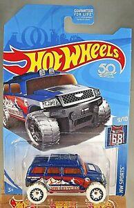 2018 Hot Wheels Treasure Hunt HW Sports-Ski 9//10 ROCKSTER Blue w//White Wheels
