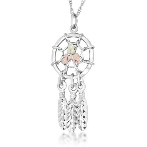 Sterling Silver /& Gold Dreamcatcher Pendant /& Necklace