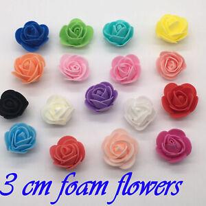 Espuma flores artificiales falsos Rose Cabezas de Flores Boda Ramo Fiesta /& Home 50 un