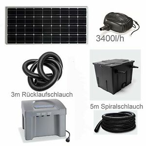 80 solar teichpumpe akku bachlaufpumpe filter tauch pumpe solarpumpe gartenteich ebay. Black Bedroom Furniture Sets. Home Design Ideas