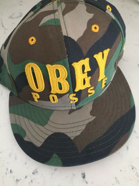 Obey Posse Streetwear Clothing Shepard Fairey New Era Camo Camouflage Fitted  Hat c2222fc6bd9
