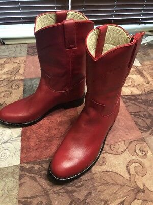 Justin Junior Red Leather Western Youth
