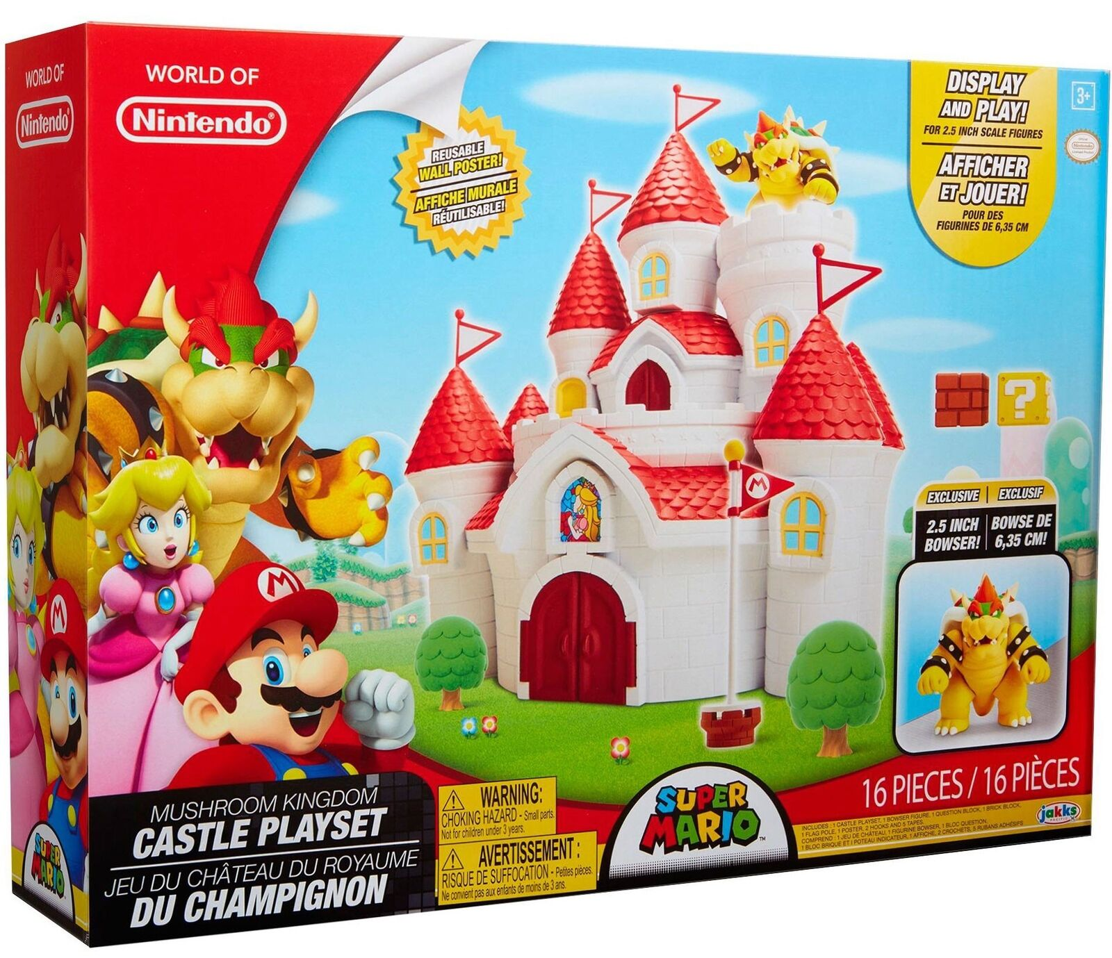 Super Mario Mushroom Kingdom Castillo Playset [2.5 Bowser Exclusivo]