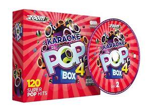 Zoom-Karaoke-Pop-Box-4-6-CD-G-Set-120-Super-Pop-Hits-New