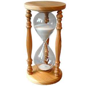 sanduhr eieruhr stundenglas kirsche rustikal 60 minuten 1 stunde ebay. Black Bedroom Furniture Sets. Home Design Ideas