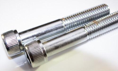 M5 X 0.8 X 40mm Chrome allen head with knurls Socket head bolts Qty 2 USA