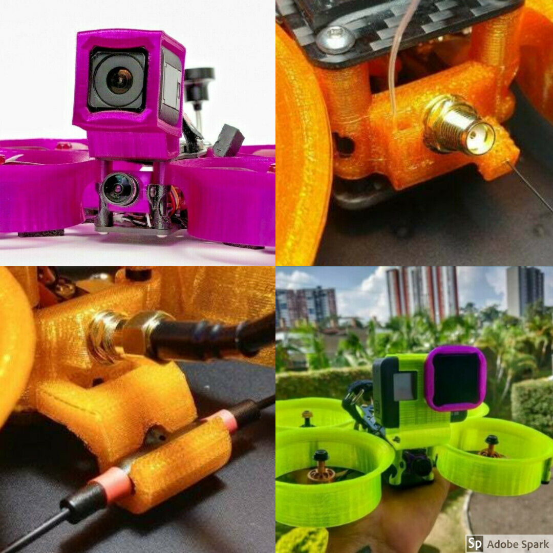 shendrones squirt v2 KIT DUCTS GOPRO Session or HERO vtx sma / rx sma / immortal