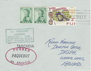 Fiji 4512 - Used in PERTH, W AUSTRALIA 1968 PAQUEBOT cover to UK