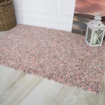 Blush Pink Living Room Shaggy Rug Soft