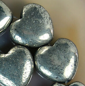 14x15mm-Natural-Golden-Pyrite-Heart-Beads-14pcs