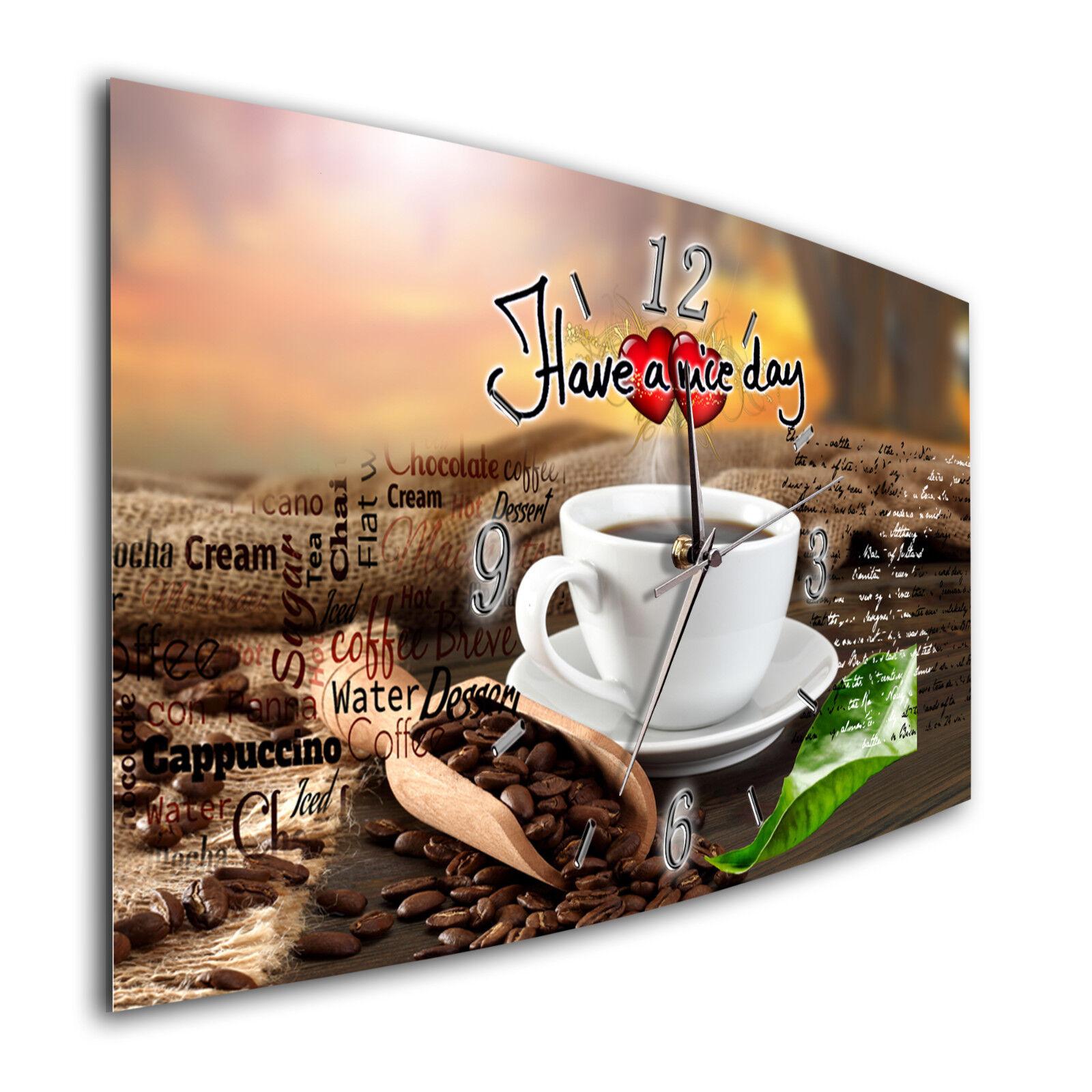 BM Wanduhr leises Uhrwerk Funkwanduhr Quarzwanduhr 8356-1a Kaffee Kaffeetasse