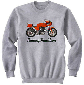 750 1973 1Cotton Alle maten op Sfc New Grey voorraad Laverda Sweatshirt 6fyY7bg