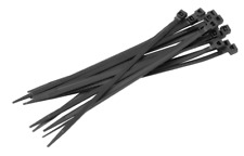 200 Pack 4 Inch Zip Cable Ties Nylon Black Weather Resistant Wire Wraps 18lb