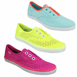 KEDS-ROOKIE-LCLSS-SLIP-ON-FLAT-CASUAL-EVERYDAY-BRIGHT-SUMMER-CANVAS-PUMPS-SHOES