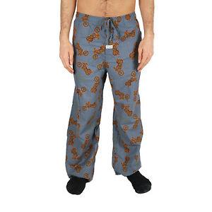 Life-is-Good-Shadow-Blue-Motorcycle-Lounge-Pajamas-Sleepwear-Loungepants-PJs-NWT