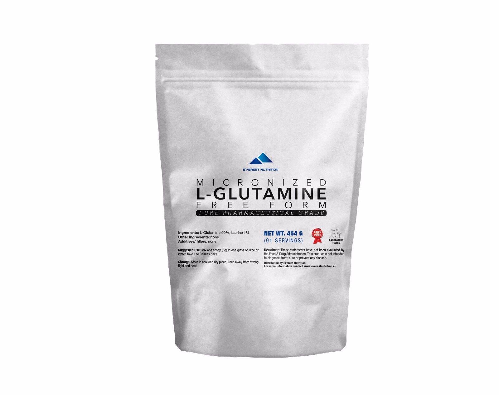 L-GLUTAMINE POWDER POWDER L-GLUTAMINE FREE FORM 100% PURE PHARMACEUTICAL QUALITY 896895