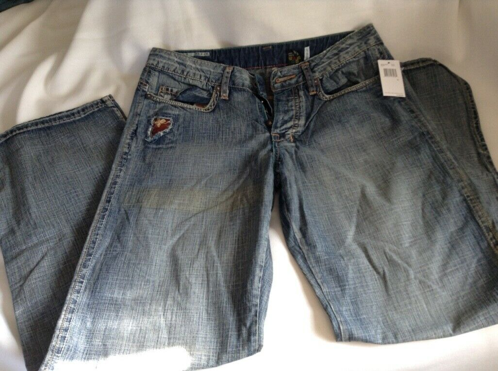New w  Tags Buffalo David Bitton Jeans JETT FIT Mens Button Fly Jeans 32x32