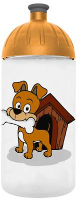hund m knochen trinkflasche 0 5l liter zubeh r kunststoff kinder kindergarten ebay. Black Bedroom Furniture Sets. Home Design Ideas