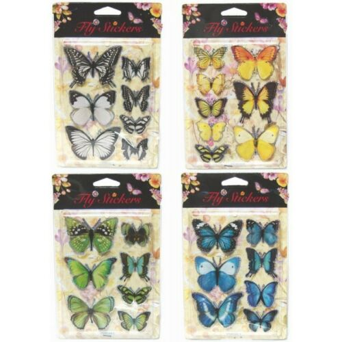 3D Butterfly Craft Decorative Stickers Blue Green Orange Purple Red Black uk