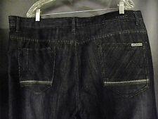 F.U.S.A.I. Focus men's STRAIGHT FIT Black/Gray Jeans 42 x 32 EUC