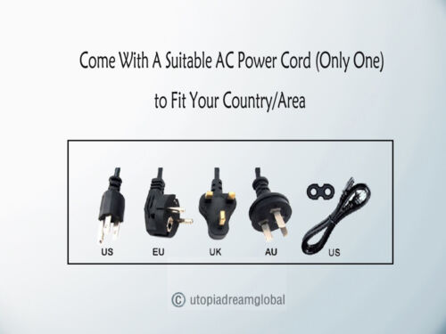 3-Pin AC Adapter For Touch Dynamic Breeze BR-PRINTERBASE /& PR-T25S T25 POS Base
