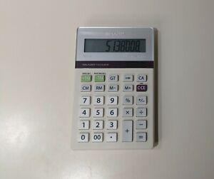 Sharp Elsimate EL-334T 10 Digit Calculator Twin Power Solar Desk Tax Rate