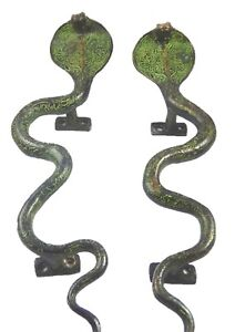 Snake Vintage Finish Handcrafted Solid Brass Door Pull Handles Knobs Home Decor