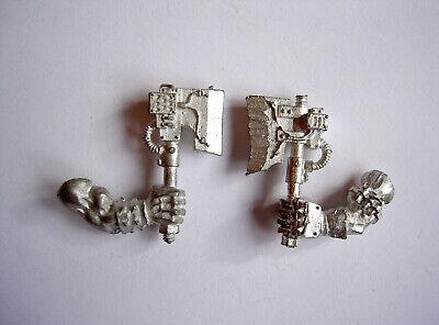 #131 Wh40k Ork Nob Nobz Choppa Choppaz Metal Bits Pezzi Gw-mostra Il Titolo Originale Bello A Colori