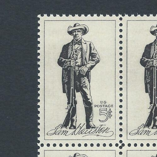 Texas Independence Vintage Mint Set of 4 Stamps 55 Years Old! Sam Houston