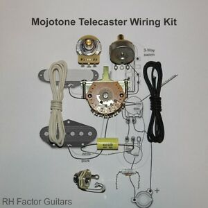 Details about MojoTone Tele Wiring Kit CTS Mojo 3 Way Mojo Jack Mojo Dijon  Cap Treble Bleed!