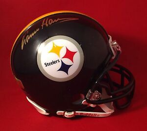 Franco Harris Signed Pittsburgh Steelers Football Mini Helmet PSA/DNA S69395
