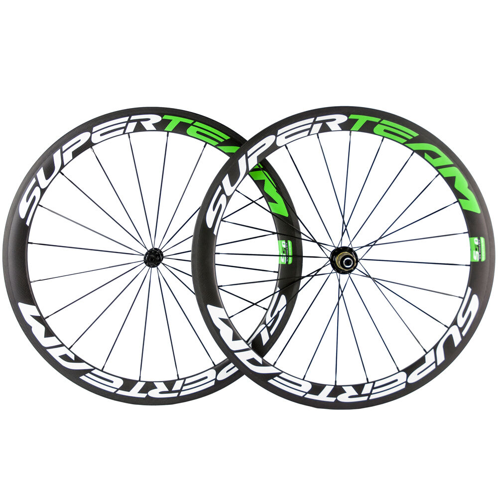Carbon Clincher Wheels Road Bicycle 50mm Carbon Wheelset R13 Matt Superteam Bike