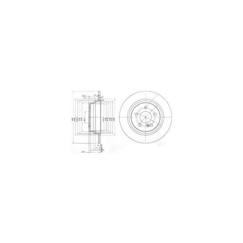 DELPHI Bremsscheibe  Hinten für Mercedes-Benz E-Klasse E-Klasse T-Model 2 St