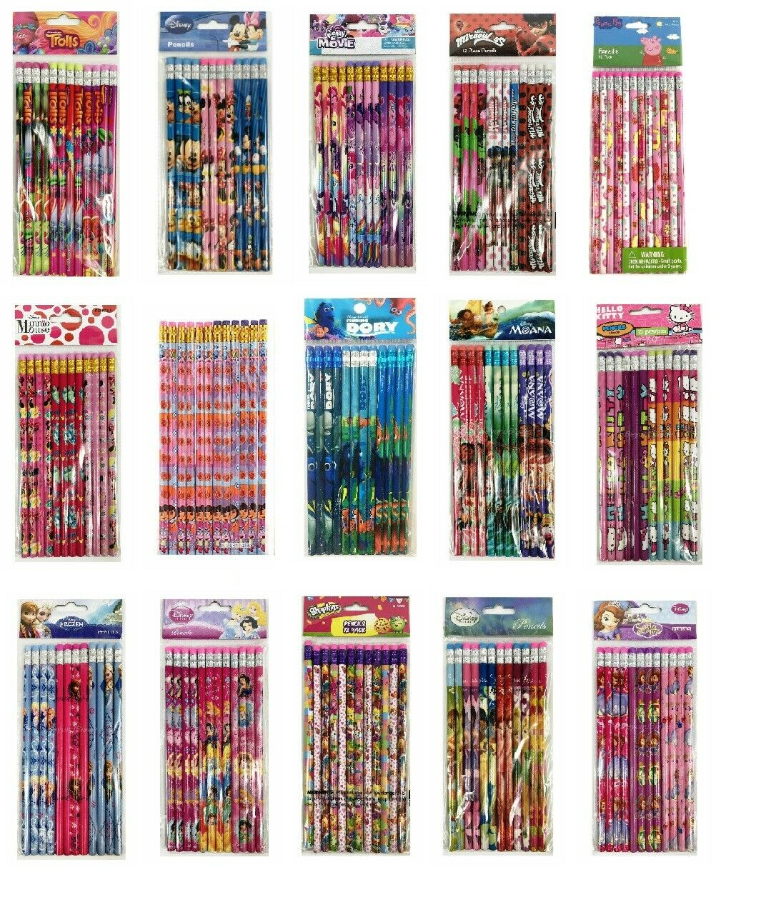 12 PC SHOPKINS PENCIL FOR SCHOOL BACKPACK SUPPLIES kids PARTY FAVORS GIFT MOOSE
