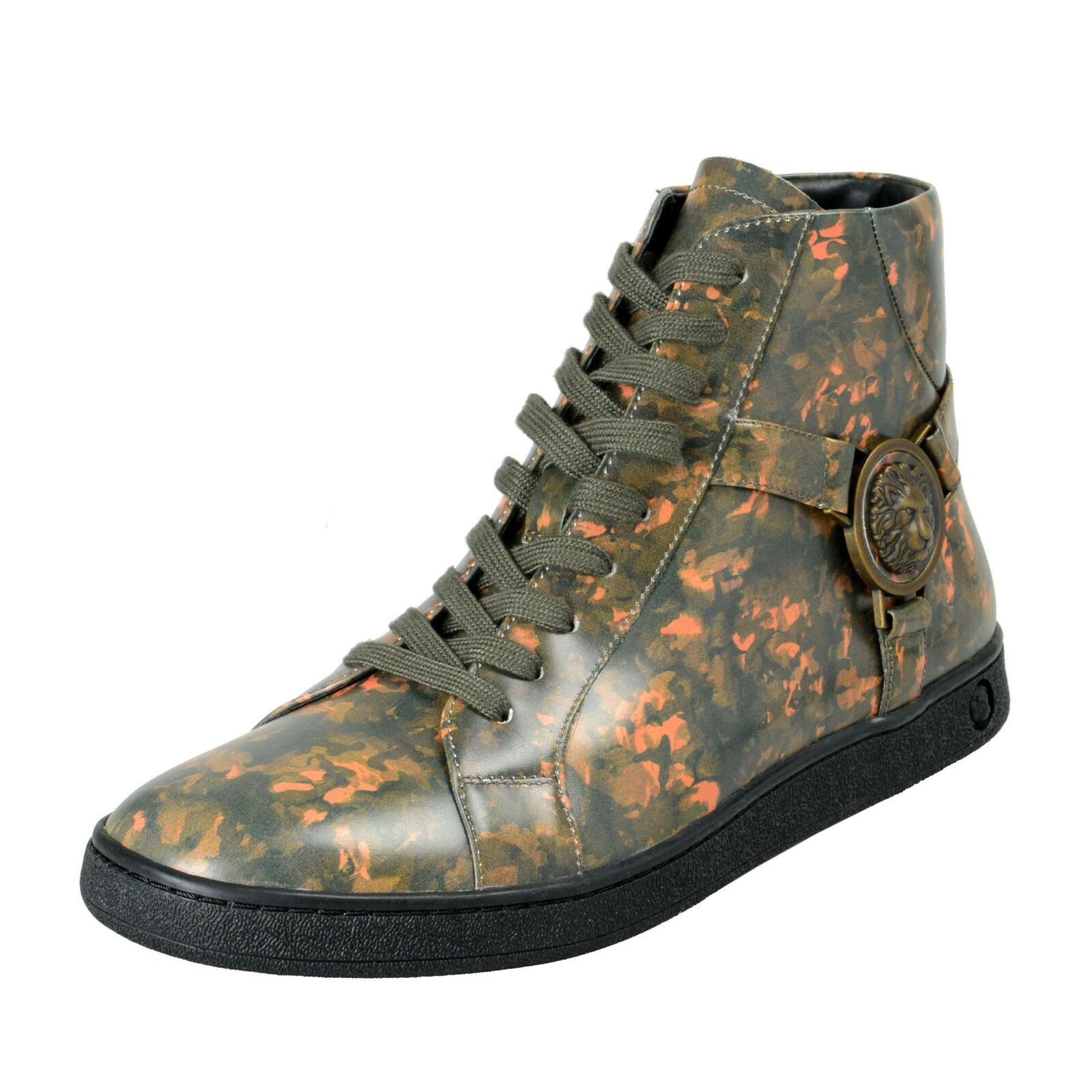 Versace Versus Men's Multi-color Leather Hi Top Fashion Sneakers shoes USz 7 10