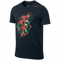 Nike Portugal Cristiano Ronaldo CR7 2015 CR Hero Soccer Shirt New Black / Red