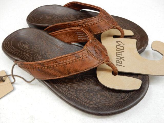89c87b0cb OluKai Mens Sandals Hiapo Rum Dark Java Size 10 for sale online