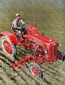 International Harvester D-212 Tractor - Poster - (A3)