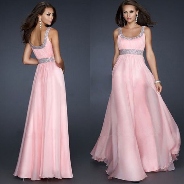 Fashiopn Sexy Chiffon Evening Party Gown Formal Bridesmaid Cocktail Full Dress