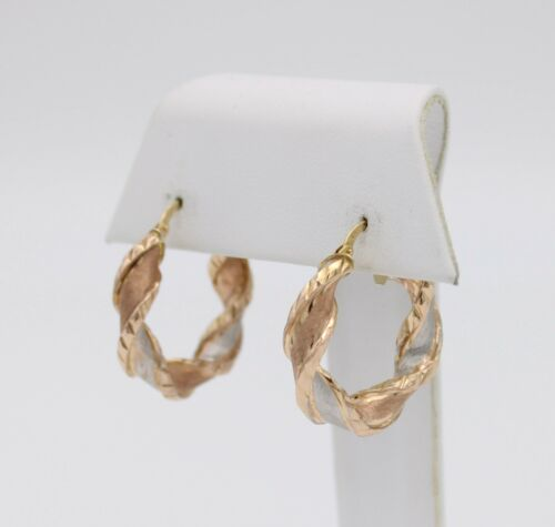ITALIAN 10KT TRICOLOR YELLOW, WHITE, & ROSE GOLD H
