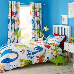 Catherine-Lansfield-Enfants-Dino-Scie-reversible-Housse-De-Couette-gamme-de-chambres-a-coucher
