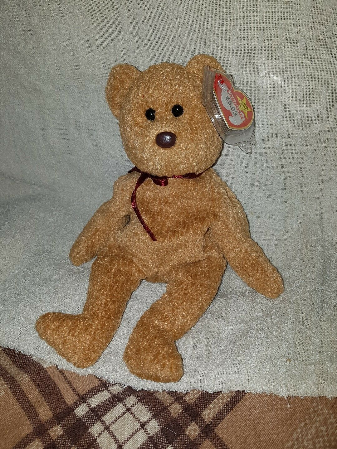 Ty beanie babies Curly with errors