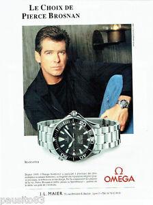 PUBLICITE ADVERTISING 096  2002  Omega  montre seamaster Pierce Brosnan