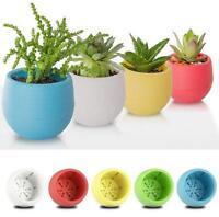 6.5cm Round Plastic Flower Pot Plant Planter Garden Home Office Decor BE