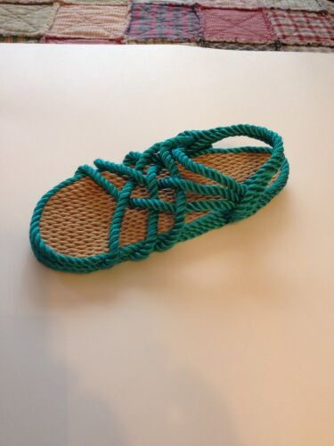 Women/'s Size 7 Rope Sandals Turquoise