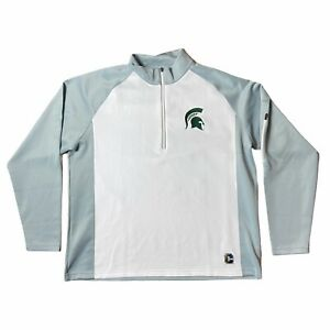 Crable-Michigan-State-Spartans-Mens-Size-XL-1-4-Zip-Pullover-Long-Sleeve-Jacket