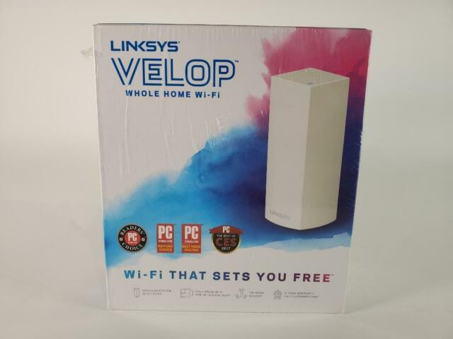 Linksys WHW0301 Velop Mesh Router Tri-Band Home Mesh Wi-Fi System 1-Pack, White