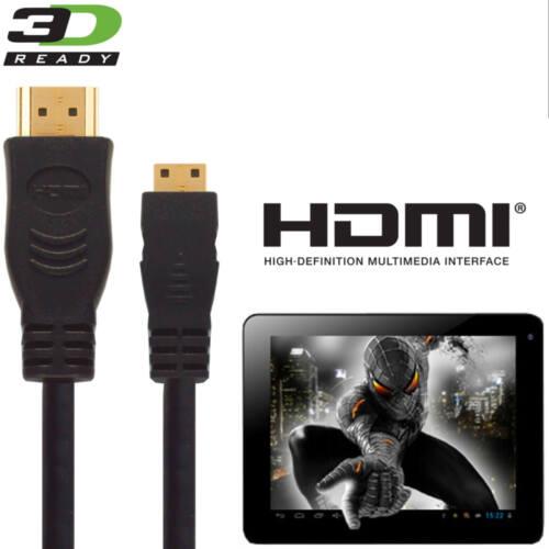 HDMI mini zu HDMI TV Gold für Kabel Alba 25.4cm Tablet PC